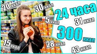 300 Ккал за 24 ЧАСА / 24 ЧАСА ЕМ ТОЛЬКО Низкокалорийную Еду