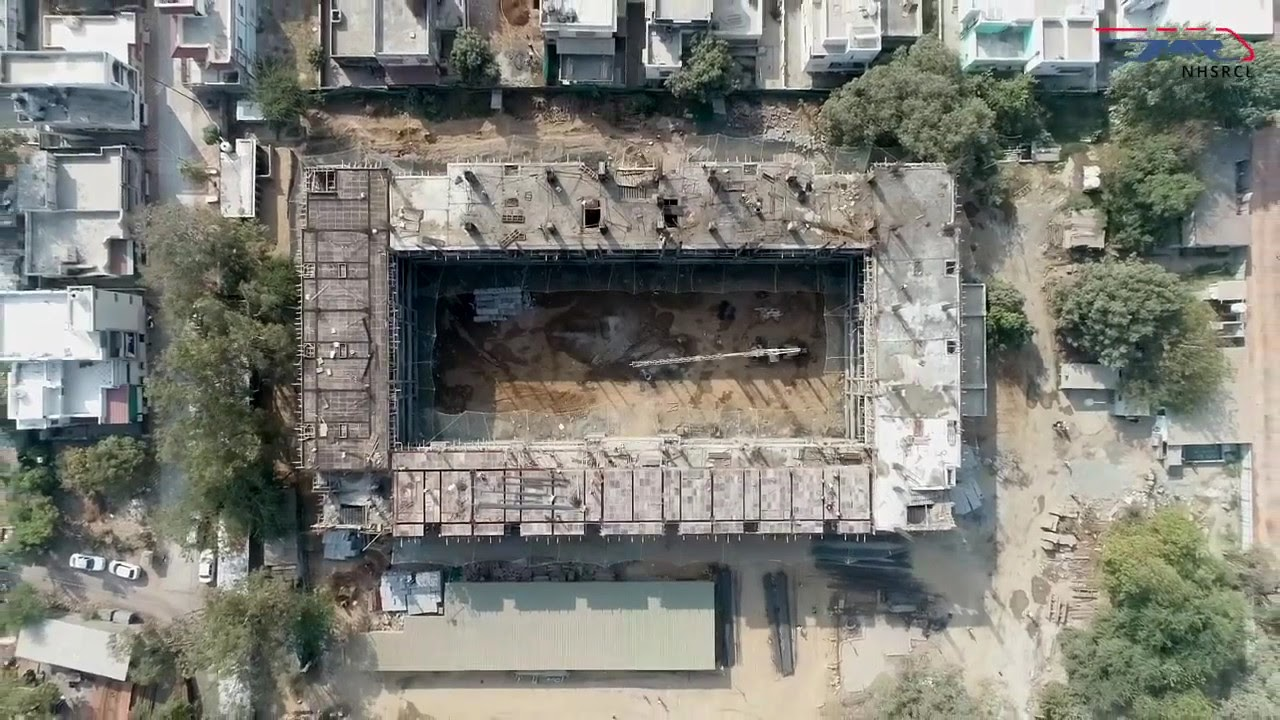 Construction update: High Speed Rail Training Institute in Vadodara