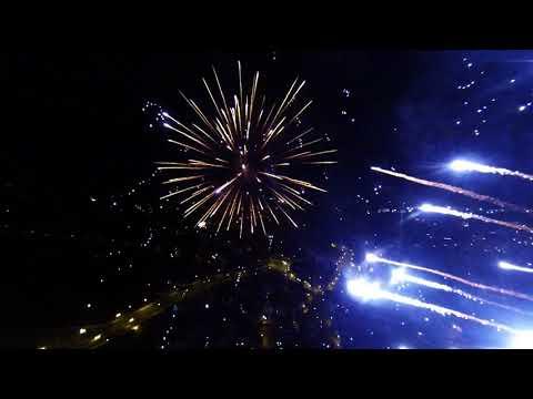 Silvester 2017/2018 Dresden Blaues Wunder Luftaufnahmen Drohne
