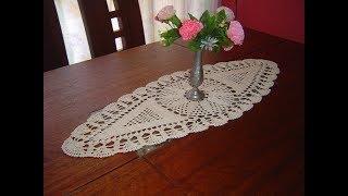 Como Tejer Carpeta Ovalada o Centro de Mesa a crochet  paso a paso parte 1/3