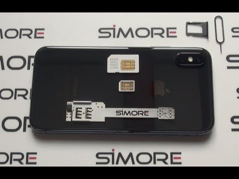 IPhone X Dual SIM Adapter 4G For IPhone X IOS 11 - SIMore WX-Twin-X