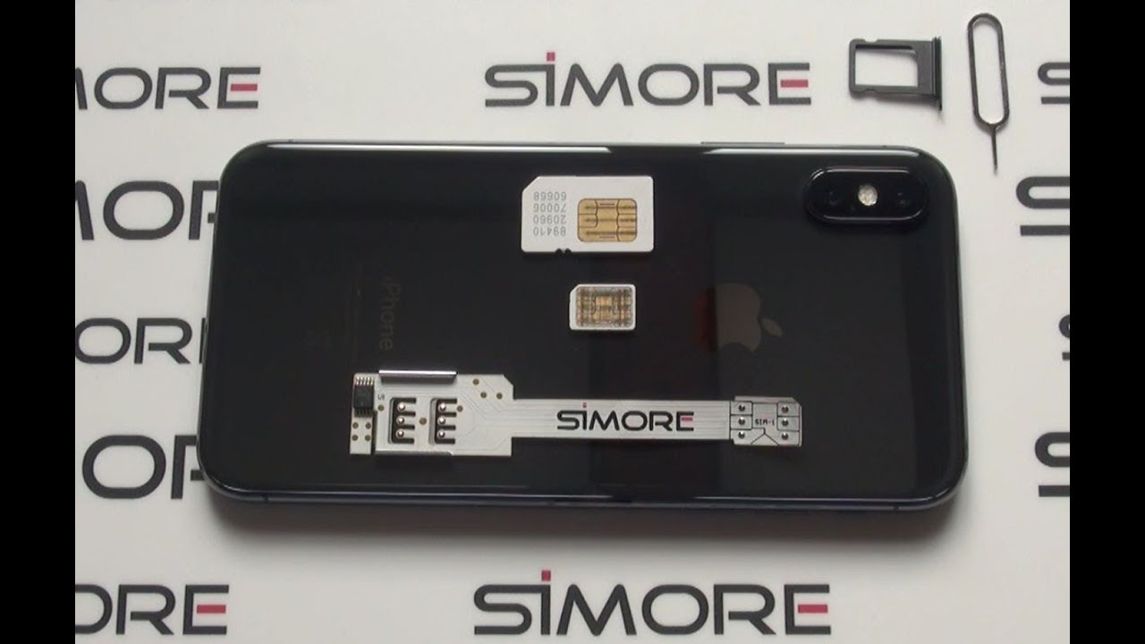 Iphone X Dual Sim Adapter 4g For Iphone X Ios 11 Simore Wx Twin X