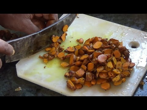 How to make TURMERIC powder at home (With English Subtitle)