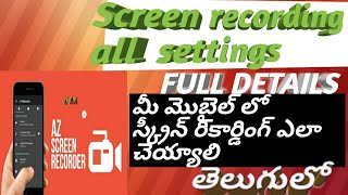 How to record mobile screen best screen record app  how to screen record in A Z screen recorder