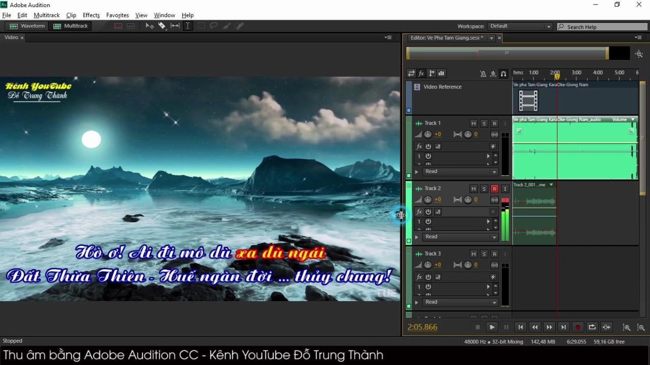 Hướng dẫn thu âm bằng Adobe Audition CC