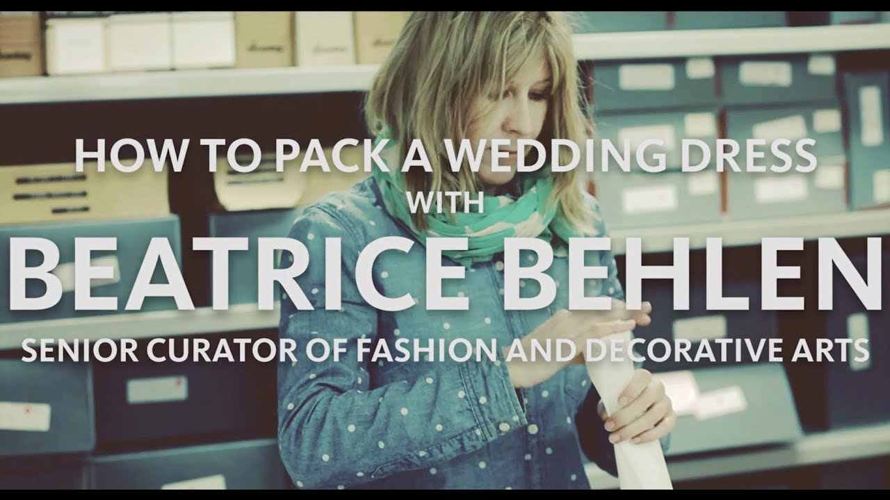How To Store A Wedding Dress Youtube