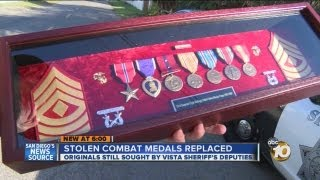 Replacement medals given to WWII veteran