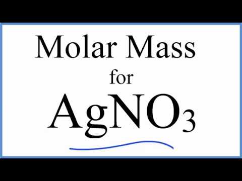Molar mass molecular weight of agno3 silver nitrate youtube molar mass molecular weight of agno3 silver nitrate urtaz Image collections