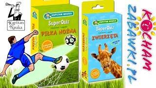 Superquiz • Piłka nożna & zwierzęta • Kapitan Nauka • gry dla dzieci