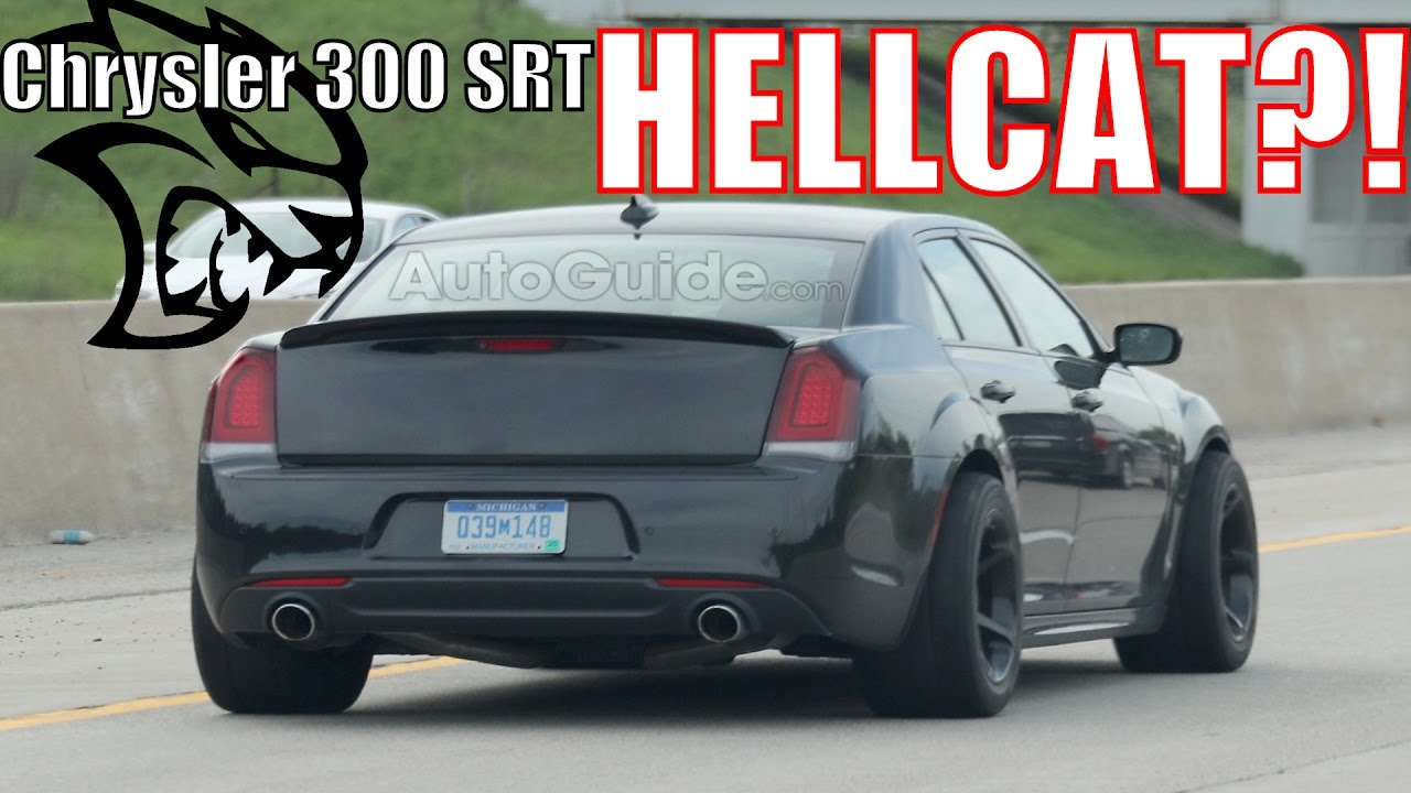 Is Fca Testing A Chrysler 300 Srt Hellcat Spy Photos Youtube