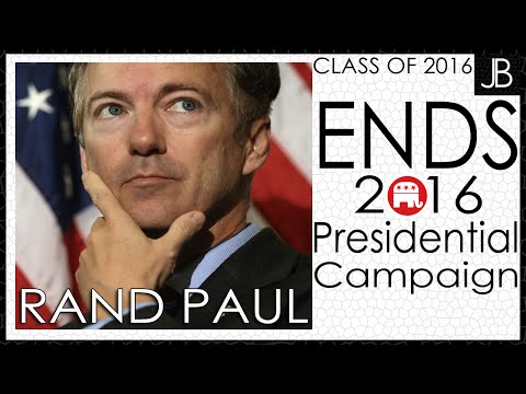 Rand Paul Ends 2016 Presidential Campaign