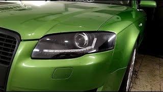 Audi A4 B7 тюнинг фар, установка динамических поворотников