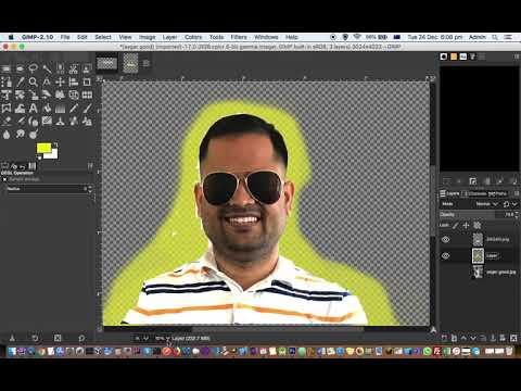 How to show photo in inches, cm, mm in GIMP | Zoom settings in GIMP  | Statusbar and Ruler bar thumbnail