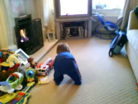 My baby boy Joshua learning to walk at 18 months!