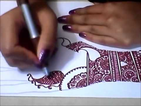 Mehndi Art Step By Step : Mehndi henna design step by session youtube