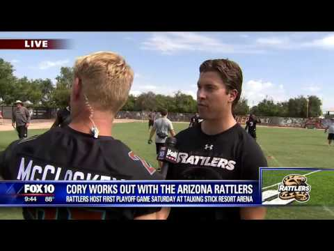 Cory McCloskey practices with Arizona Rattlers
