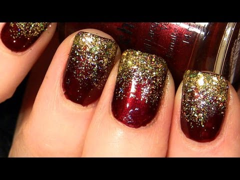 Sparkly Glitter Christmas Nails Youtube
