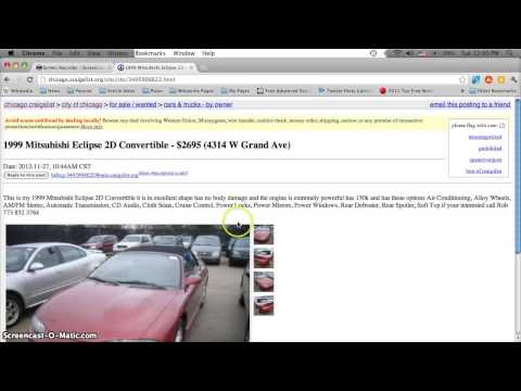 Craigslist Chicago Used Cars, Appliances And Furniture - For Sale By Owner Deals In 2013