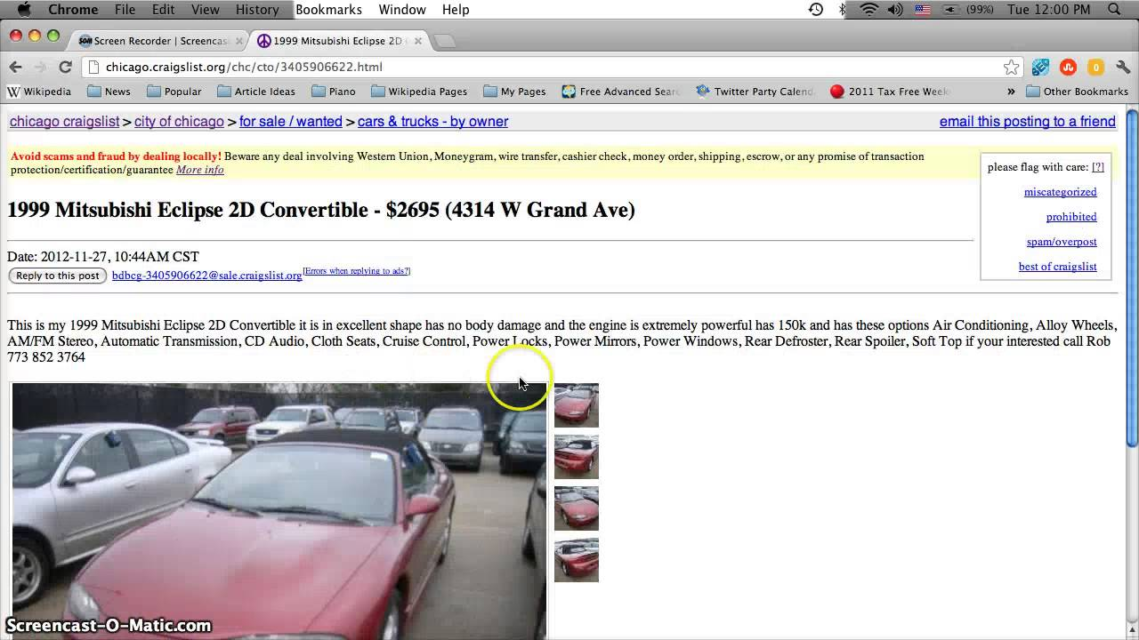 Craigslist Chicago Used Cars Appliances And Furniture For Sale By