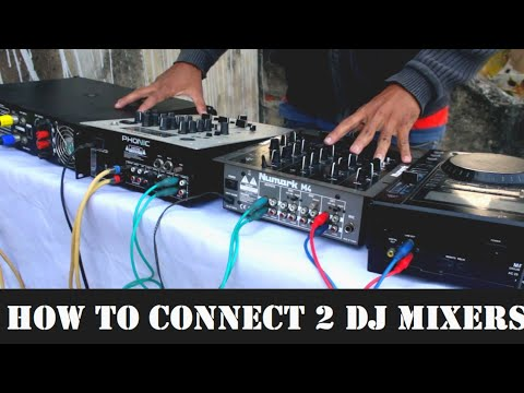 How To Connect 2 DJ Mixers For 1 Song Output || DJ Mixer To DJ Mixer Connection || # IN HINDI
