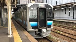 五能線GV-E400系秋アキT217編成ワンマン普通深浦行き2830D弘前発車