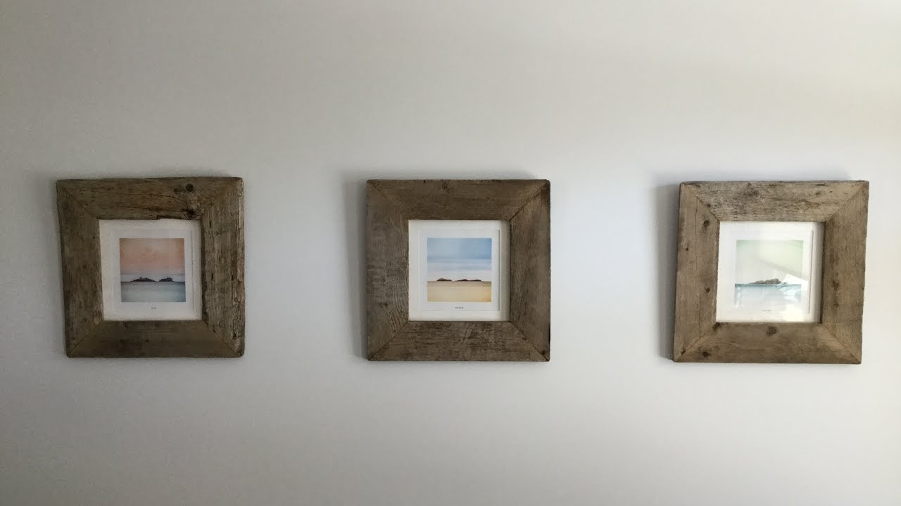 DIY PALLET WOOD PICTURE FRAME - YouTube