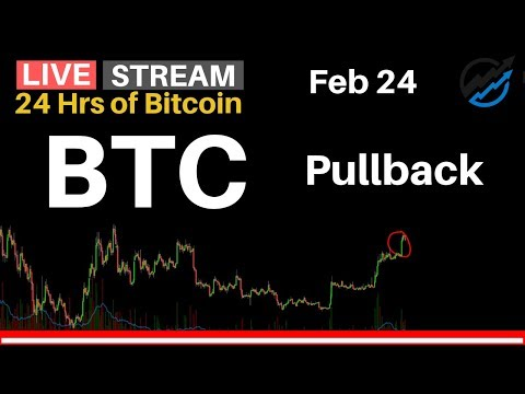 BTC First Pullback From Resistance | 24 Hrs of Bitcoin for Sunday Feb 24 2019