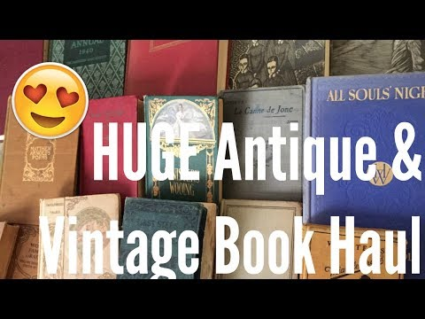 HUGE Antique and Vintage Book Haul | Flea Market and Thrift Store Finds