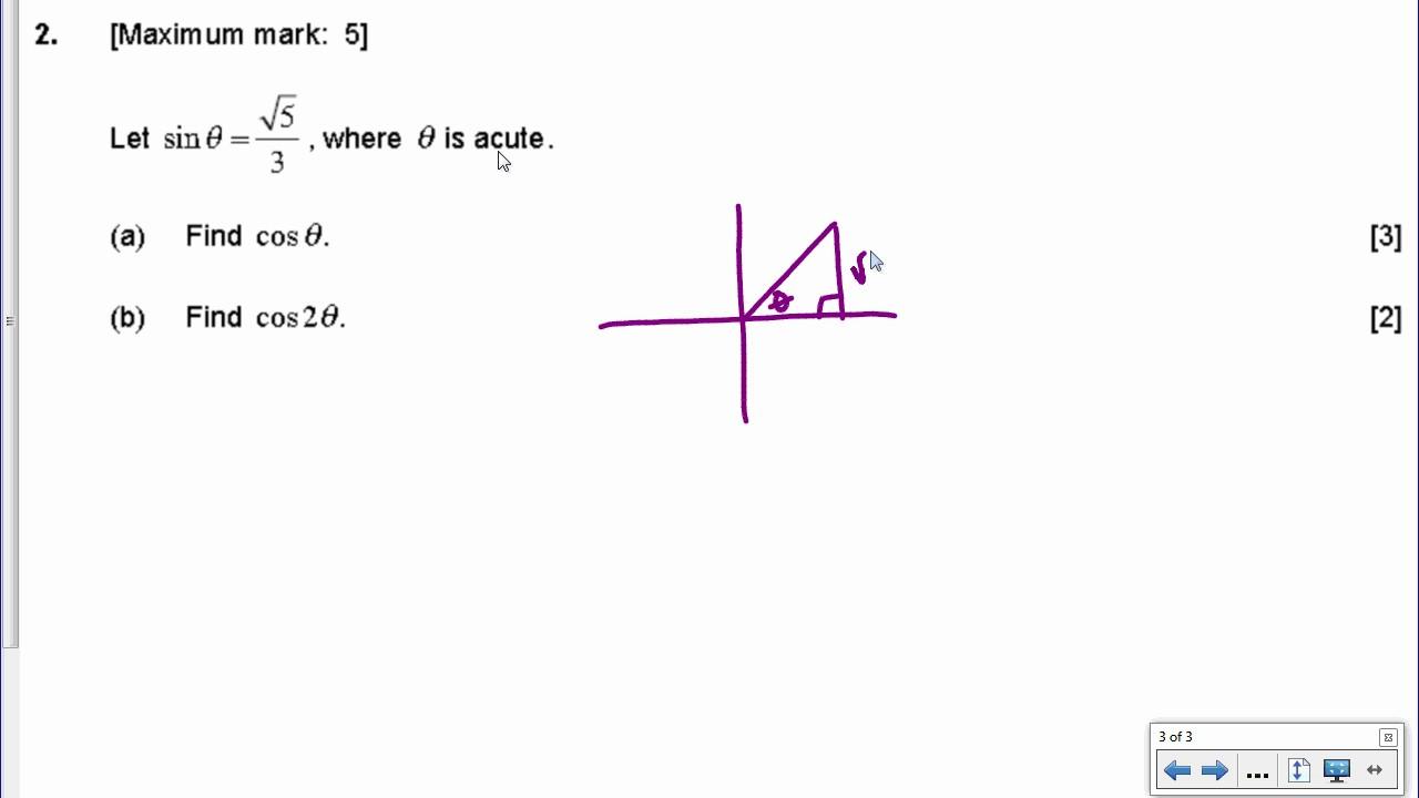 [IB Math SL] Nov 2016 TZ0: Paper 1, Question 2