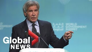 Harrison Ford applauds Canada's stance on tackling climate change