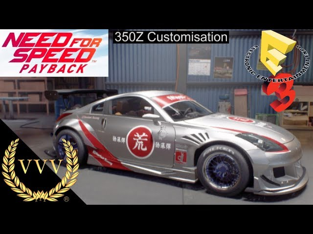 Need for Speed Payback - 350Z Customisation