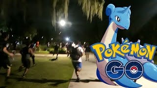 WILD LAPRAS STAMPEDE IN POKEMON GO!