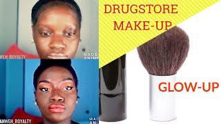 DrugStore Makeup GlowUp-Look on Darksin