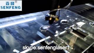 acrylic sheet 8mm laser cutter with 80w laser tube -SENFENG