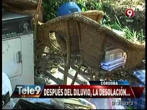 Córdoba: el agua atravesó el living de una casa
