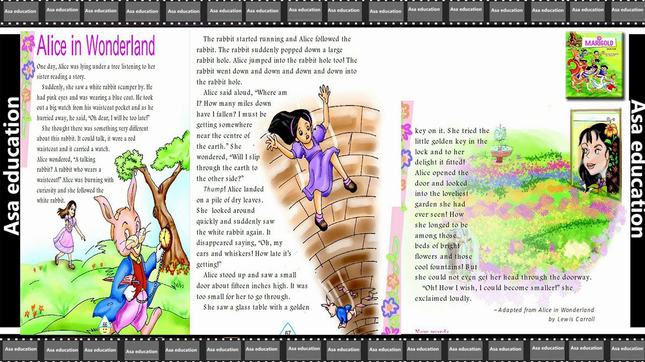 Ch 4 Alice in Wonderland (English - Marigold, Grade 4, CBSE) Story in Easy  Hindi/English