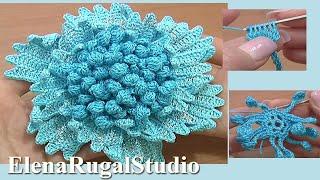 Big Flower Crochet Tutorial Part Crochet Stamens Center