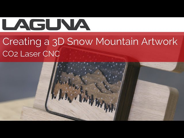 Creating a 3D Snow Mountain artwork with Laser CNC | m777 casino Tools