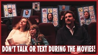 """Don't Talk or Text During the Movies!"" - Movie Theater PSA {2012}"