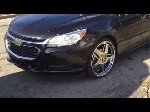"2014 Impala Lt on 24"" Dub Cutta,2015 Malibu Lt staggered 22"" Forgiato's his&hers Chevrolet Chevys Nc"