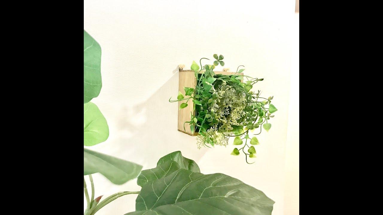 100均diy動画】壁にかけられるグリーンをdiy!作り方をご紹介 - youtube