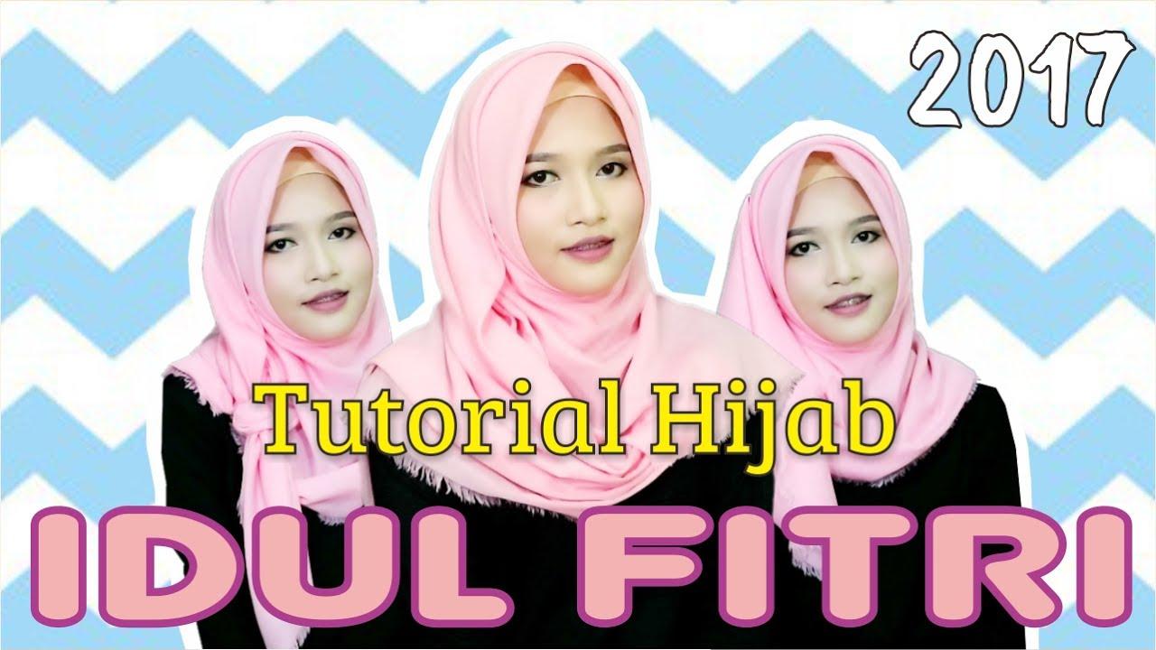 3 tutorial hijab segiempat rawis simpel untuk merayakan hari raya