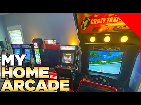 My Home Arcade + Crazy Taxi Cabinet | Austin John Vlogs