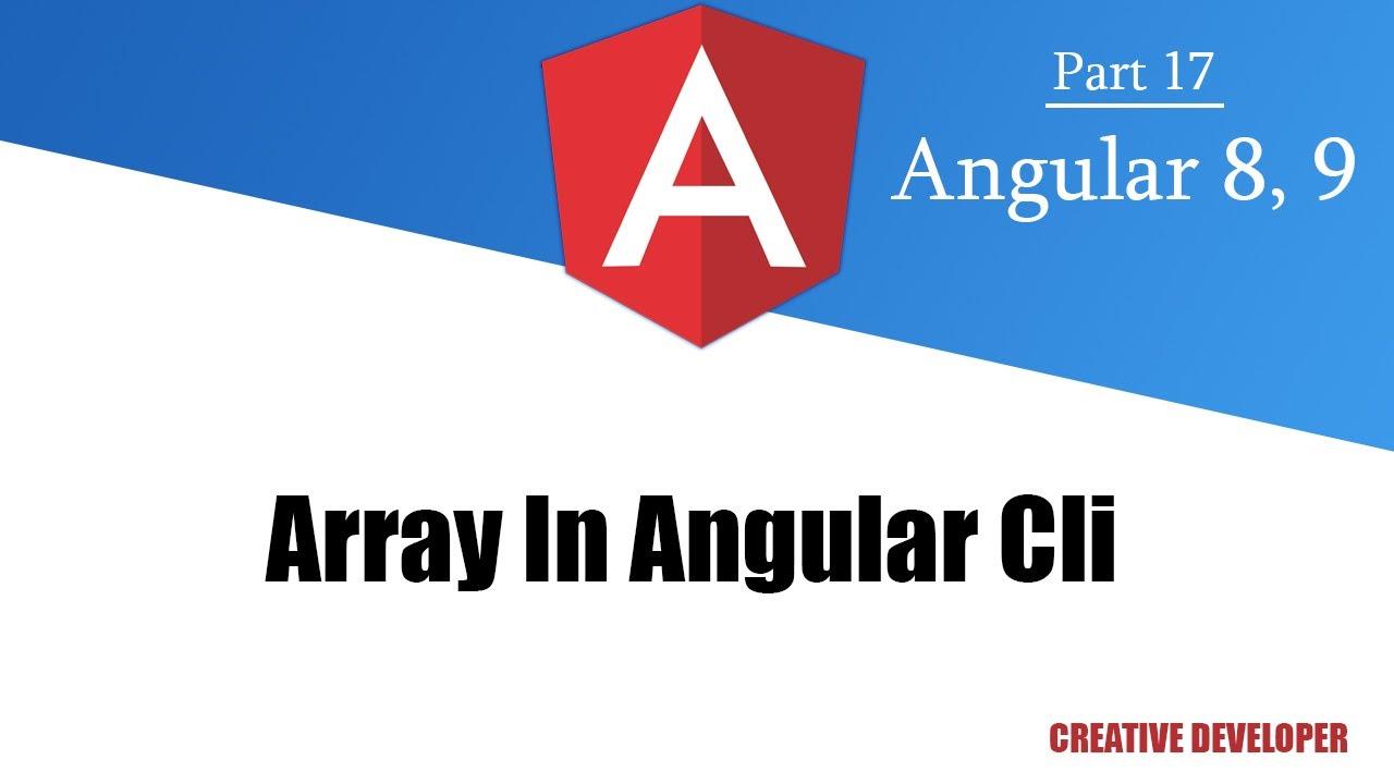 Array in Angular    Angular Array