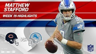 Matthew Stafford Leads Lions to Victory w/ Double TD Day! | Bears vs. Lions | Wk 15 Player HLs