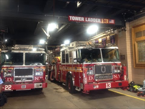 FDNY Engine 22, Tower Ladder 13, Battalion 10 & FDR 2 Inside Their Firehouse On East 85th Street
