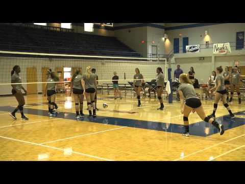 Sights and Sounds of Volleyball's First Fall Practice.
