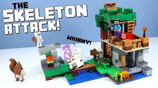 LEGO Minecraft The Skeleton Attack Set Review 2018