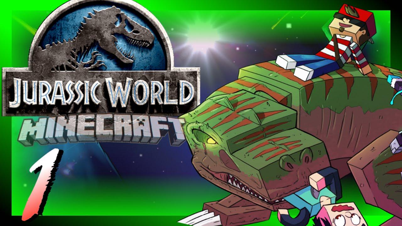 Jurassic World [Day 1] Crash Landing! (Custom Modpack