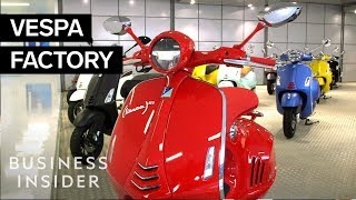 How Vespa Scooters Are Made The Making Of